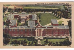 Minnesota Rochester Aerial View Of St Mary's Hospital Curteich - Rochester
