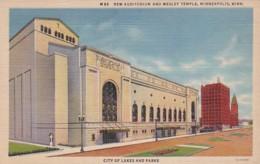 Minnesota Minneapolis New Audditorium And Wesley Temple 1943 Curteich - Minneapolis