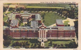 Minnesota Rochester Aerial View Of St Mary's Hospital 1949 Curteich - Rochester