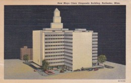 Minnesota Rochester New Mayo Clinic Diagnostic Building 1952 Curteich - Rochester