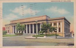 Minnesota St Paul Union Station 1951 Curteich - St Paul