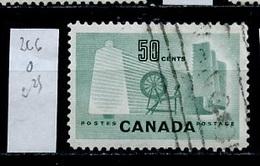Canada - Kanada 1953 Y&T N°266 - Michel N°289 (o) - 50c Industrie Textile - 1952-.... Règne D'Elizabeth II