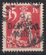 DR 121, Gestempelt, Geprüft, Bayern Aufdruck 1920 - Deutschland