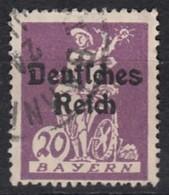 DR 122, Gestempelt, Geprüft, Bayern Aufdruck 1920 - Deutschland