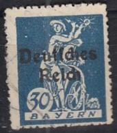 DR 123, Gestempelt, Geprüft, Bayern Aufdruck 1920 - Deutschland