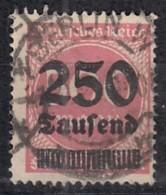 DR 295, Gestempelt, Geprüft, Aufdruckausgaben 1923 - Germany