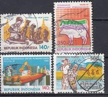 INDONESIEN 1986 - MiNr: 1194-1195+1222-1223    Used - Indonesien