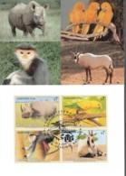 UNO WIEN, 180-183 MC, Maximumkarte 31, Gefährdete Arten 1995 - Maximumkarten