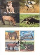 UNO WIEN, 222-225 MC, Maximumkarte 49, Gefährdete Arten 1997 - Maximumkarten