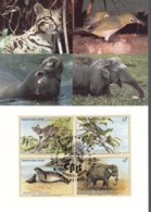 UNO WIEN, 162-165 MC, Maximumkarte 24, Gefährdete Arten 1994 - Maximumkarten