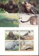 UNO GENF, 227-230 MC, Maximumkarte 17, Gefährdete Arten 1993 - Maximumkarten