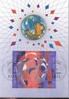 UNO GENF, 235-238 MC, Private Maximumkarte Von Gerhard Eisenmann, Weltfriedenstag 1993 - Maximumkarten