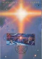 UNO GENF, 219-220 MC, Maximumkarte 8, Weltraumjahr 1992 - Maximumkarten