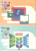 UNO WIEN, 135-136 MC, Maximumkarte 14-15, Wissenschaft Und Technologie Im Dienste Der Entwicklung 1992 - Maximumkarten