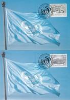 UNO WIEN, 186-187 A MC, Maximumkarten 28, 50 Jahre UNO 1995 - Maximumkarten