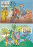 UNO WIEN, 174-175 MC, Private Maximumkarten Von Gerhard Eisenmann, Bevölkerung Und Entwicklung 1994 - Maximumkarten