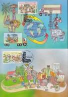 UNO GENF, 254-255 MC, Private Maximumkarten Von Gerhard Eisenmann, Bevölkerung Und Entwicklung 1994 - Maximumkarten