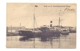 """POMMERN - STETTIN / SZCZECIN, Fahrgastschiff """"Oberbürgermeister Haken"""", Photograph Max Dreblow - Pommern"""