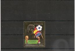 RÉPUBLIQUE CENTRAFRICAINE Platini Année 1981 Timbre** Sur Feuille D'or Côte : 17,75 € - Centrafricaine (République)
