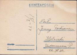 Feldpostkarte: Finnland 15.2.1944 - 1939-45