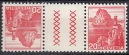 SCHWEIZ  KZ 12 Y D, Postfrisch **, Landschaften 1939 - Tête-Bêche
