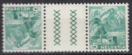 SCHWEIZ  KZ 9 Z D, Postfrisch **, Landschaften 1937 - Tête-Bêche
