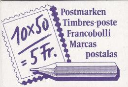 SCHWEIZ MH 0-84, Gestempelt, Postbeförderung Markenheftchen 1988 - Carnets