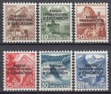 SCHWEIZ  BIE/IEB, 23-28, Postfrisch **, Int. Erziehungsbüro 1948 - Service