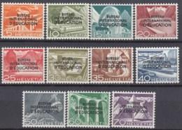 SCHWEIZ  BIE/IEB, 29-39, Postfrisch **, Int. Erziehungsbüro 1950 - Service
