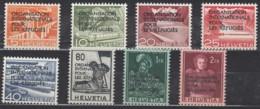 SCHWEIZ  OIR/IRO 1-8, Postfrisch **, Int. Flüchtlingsorganisation 1950 - Service