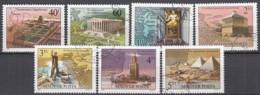 UNGARN 3411-3417, Gestempelt, Die Sieben Weltwunder, 1980 - Ungarn