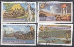 KONGO Volksrepublik 670-673 Gestempelt, 200. Todestag Von Kapitän James Cook, 1979 - Kongo - Brazzaville