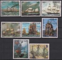 PARAGUAY , 2952-2960, Gestempelt, Gemälde Deutscher Schiffe, 1977 - Paraguay