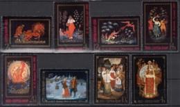 UdSSR 4521-4525, 4581-2, 4586, Gestempelt, Miniaturmalerei Aus Palech Und Fedoskino, 1976/77 - 1923-1991 URSS