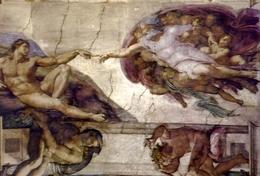 Città Del Vaticano - Cappella Sistina - La Creazione Dell'uomo - Formato Grande Viaggiata – E 9 - Cartoline