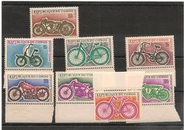 CONGO  Cycles Année 1969 N° Y/T : 229/236** Côte : 31,00 € - République Démocratique Du Congo (1964-71)