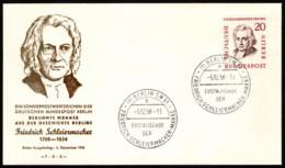 BER SC #9N152 1958 Friedrich Schleiermacher FDC 12-05-1958 - [5] Berlin