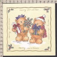 98115GF/ NOEL, Oursons, Ours En Peluche, Carte Double (carnet) - Natale