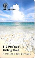 CARTE-n-PREPAYEE-10$-Cable & Wireless -1998-PLAGE- Utilisé-TBE - Bermuda