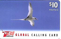 CARTE-n-PREPAYEE-10$-TBI GLOBAL-1998-MOUETTE- Utilisé-TBE - Bermuda