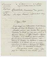 Colmar An 9 – 24.11.1800 Chastelein Commissaire Des Guerres 5e Division Militaire Dépôt De Mendicité - Documents Historiques