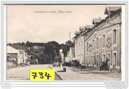 2904 D02M AK/PC/ CP / POMPE734 MONTREUIL AUX LIONS ENTREE DU PAYS HOTEL DE LA CROIX D OR POMPE A ESSENCE MOTO NAPHTA - Francia