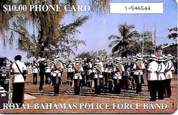 CARTE-n-PUCE-10$-BAHAMAS-BATELCO-ROYAL POLICE FORCE BAND-Utilisé-TBE - Bahamas