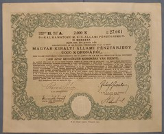 Share Dionica 1918. 1925. MAGYAR KIRALY ALLAMI PENZTARJEGY Budapest - Documents Historiques