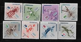 REPUBLICA DOMINICANA  MELBOURNE 1956  MNH # 479-83, C100-2 - Dominicaine (République)