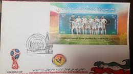 L) 2018 IRAN, FIFA WORLD CUP, IRAN NATIONAL FOOTBALL TEAM QUALIFIED 2018 WORLD CUP RUSSIA, SPORT, FDC - Iran