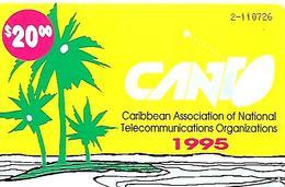 CARTE-n-PUCE-20$-1995-BAHAMAS-BATELCO-CANT Utilisé-TBE - Bahamas