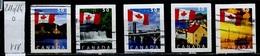 Canada - Kanada 2004 Y&T N°2110 à 2114 - Michel N°2227 à 2231 (o) - Série Drapeau National - 1952-.... Règne D'Elizabeth II