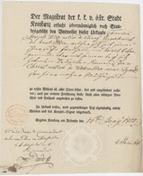 Konstance Am Bodensee Constance 1800 Le Magistrat  Cernay Wattwiller Sceau Fleur - Documents Historiques