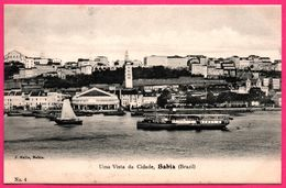 Brésil - Brazil - Bahia - Uma Vista Da Cidade - Voilier - Bateau - Animée - Edit. J. MELLO N° 4 - Salvador De Bahia